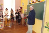Úspěch v práci popřál i učitelskému sboru.