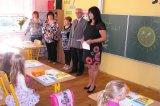 Čtvrtek 1.9.2016 -  Zahájení nového školního roku. Mgr. E. Peksová vítá přítomné.