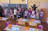 Rozprava třídní učitelky Mgr. Němečkové k rodičům i žákům.